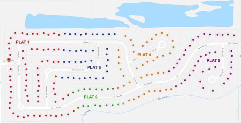 Lakemont Plat Map
